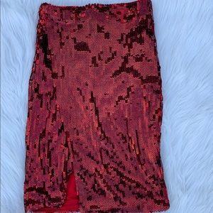 Sequin Skirt with Split